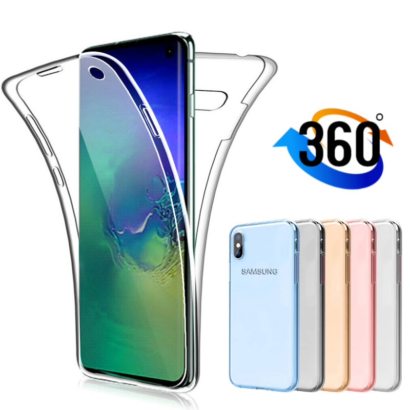360 Full Body Case For Samsung Galaxy S20 S10 S9 S8 Plus Ultra E A30 A30S A50 A50S A51 A70 A70S A71 Soft Clear TPU Phone Cover