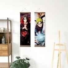 Japanese Anime Kakashi Itachi Sasuke Sakura Hanging Scroll Wall Art Posters Paintings Home Decor Pictures for Living Room