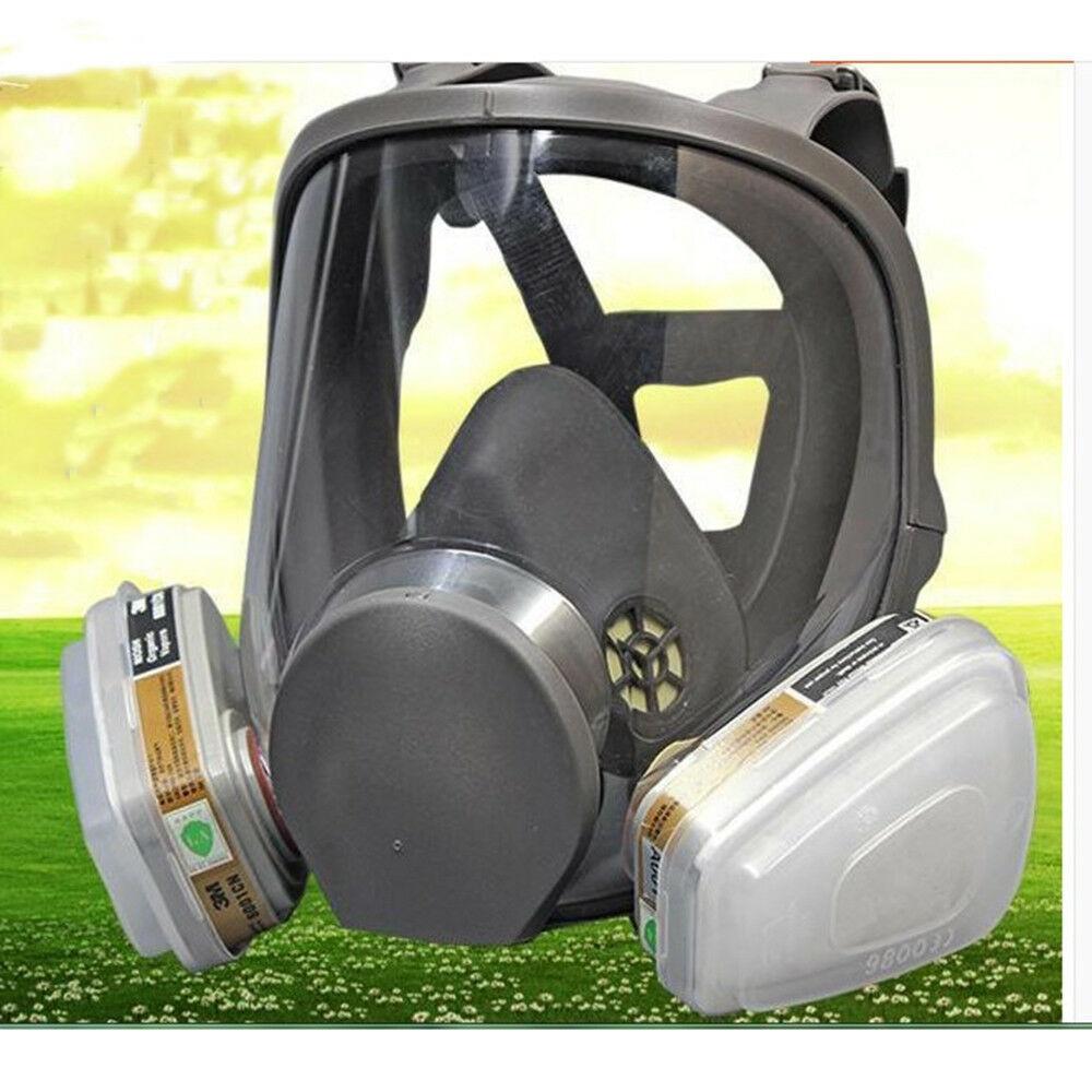3M 6000 Series Full Face Vapor Dust Mask Respirator 6800 Spray Paint+Filter