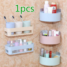 kitchen Bathroom Shelving Wall Corner Storage Rack Shampoo Holder Toilet Suction Cup Storage Rack Bathroom Accessories@#05(China)