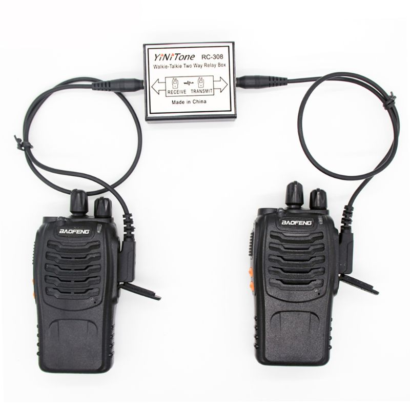 RC-308 Repeater Box K Port For Two Handheld Radio Baofeng UV-5R BF-888S
