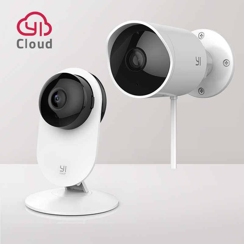 YI kryty/zewnętrzna kamera bezpieczeństwa pakiet zestaw 2.4G Wi-Fi inteligentnego domu System nadzoru 24/7 awaryjne odpowiedzi ruchu wykrywania