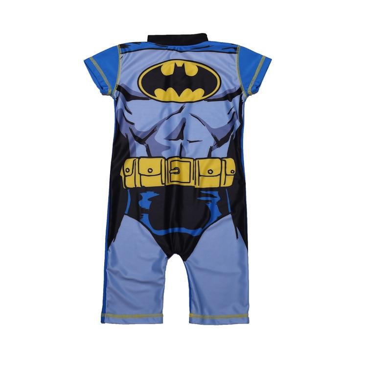 Children Cosplay Cartoon Batman Small Stand Collar Zipper Sun-resistant Beach Holiday Short Sleeve One-piece Swimming Suit