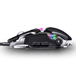 KCPDS mysz do gier ergonomiczna przewodowa mysz 8-LED 3500 DPI optyczne programowalny komputer USB makro myszy przewodowa mysz do gier dowcip