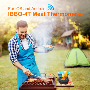 Image 5 - Inkbird IBBQ 4T Wi Fi Meat Digital Thermometer Rainproof Magnetic Alarm Thermometer for Kitchen Smoker Grilling with 4 Probes