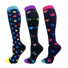 6 Styles Men Professional compression socks Fit for Sport varicose vein Travel Fit for Nurses Shin Splints Flight Travel socks