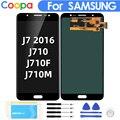 100% AAA 5 6 дюймов для Samsung Galaxy J7 2016 j710 J710F J710M ЖК-дисплей сенсорный экран дигитайзер яркость регулируемая сборка