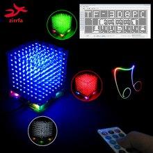 ใหม่ 3D 8S 8x8x8 MINI MP3 เพลง cubeeds ชุด Built in Audio Spectrum สำหรับ TF Card,LED อิเล็กทรอนิกส์ DIY ชุด