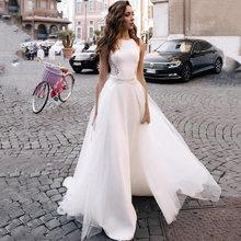 Eightree 2021 атласные трапециевидные Свадебные платья с кружевной