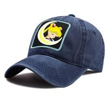 Hat Unisex Baseball-Caps Trucker-Cap Anime Snapback Sun-Shade Sailor-Moon Kpop Washed