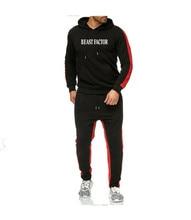 2019 NEW Men hoodies Travis Scott Print letters BEAST FACIOR Sweatshirt fashion Stitching stripe Hoodie and woman