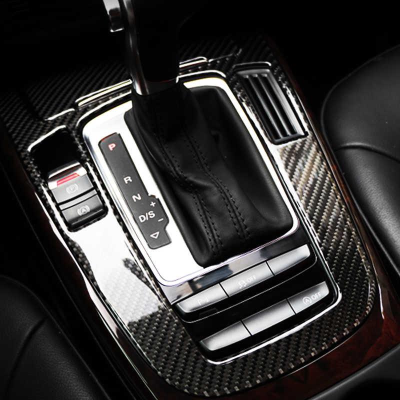 Autocollants décoratifs de couverture de changement de vitesse de Console centrale de Fiber de carbone pour des accessoires de voiture d'audi A4 B9 A5 Q5