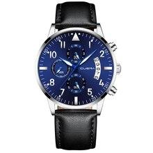 Luxury men Watches  DATE male leather Clock Quartz Wristwatch Fashion men Wrist Watch reloj mujer relogio feminino