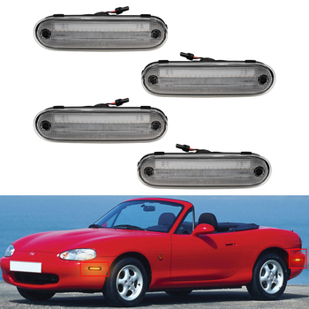 Clear Front Amber /Rear Red LED Side Marker Light Signal Lamp For Mazda Miata MX-5 1990-2005