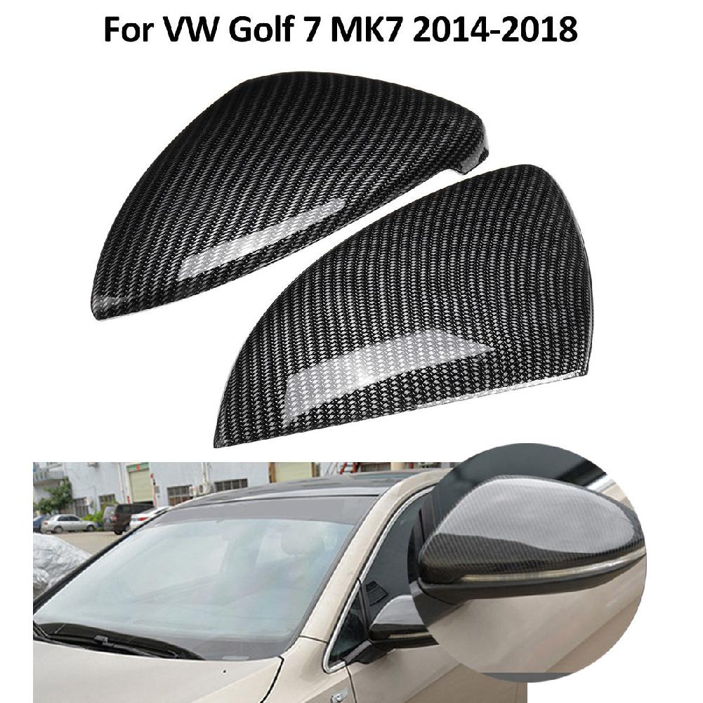 Dragonpad 2Pcs Car Side Mirror Cover Trim FIt for VW <font><b>Volkswagen</b></font> <font><b>Golf</b></font> <font><b>7</b></font> MK7 2014 2015 2016 2017 2018 <font><b>Carbon</b></font> Fiber Style image