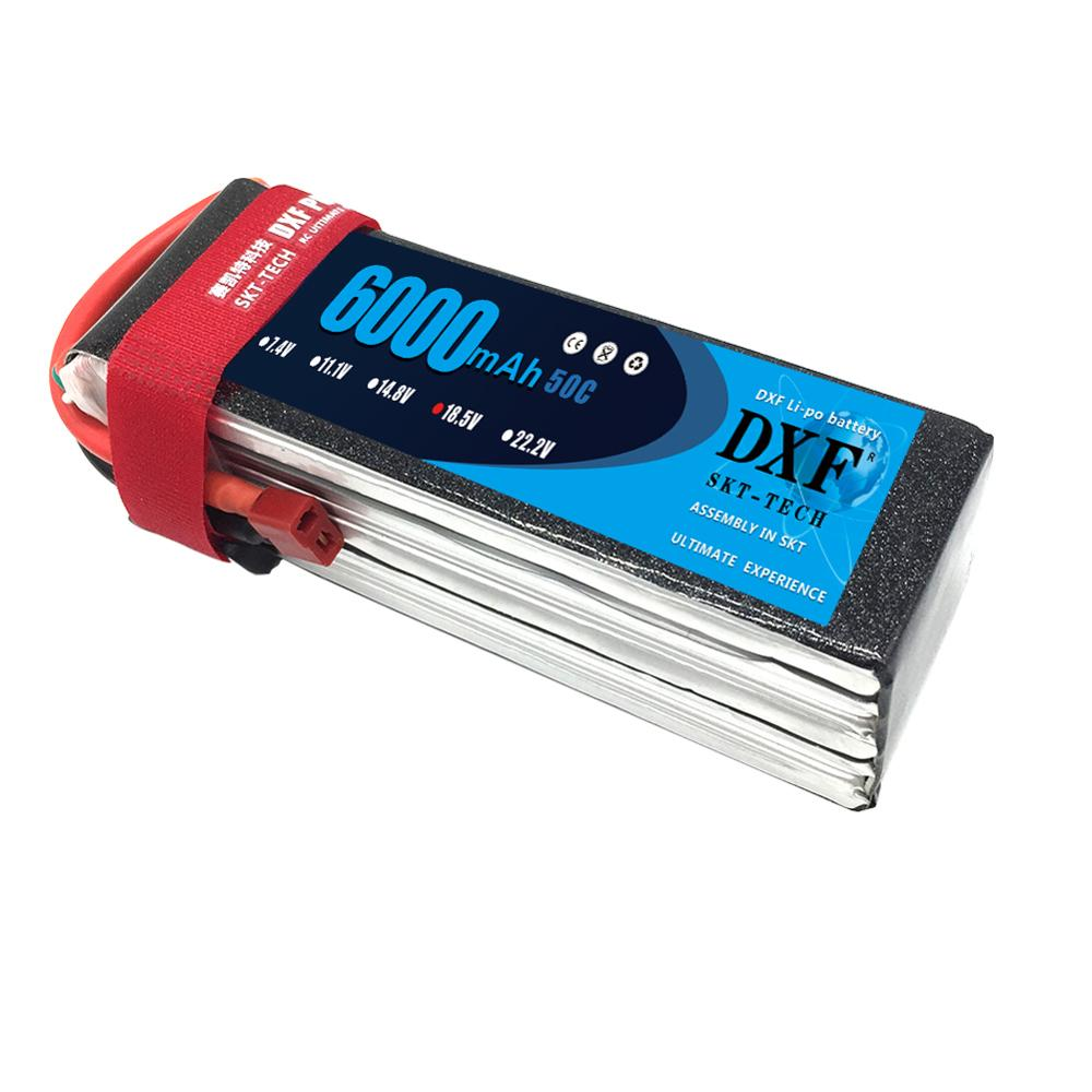 DXF AKKU 18.5V <font><b>6000mAh</b></font> 50C-100C <font><b>5S</b></font> RC <font><b>LiPo</b></font> Battery For Airplane Helicopter Aircraft Quadcopter Drone Toys image