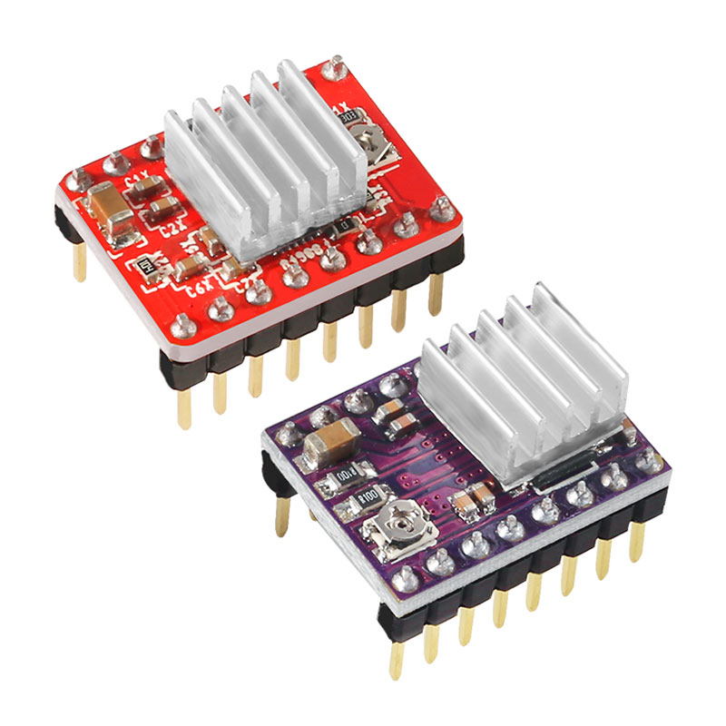 A4988 DRV8825 Stepper Motor Driver With Heat Sink 3D Printer Parts StepStick Carrier Reprap RAMPS 1.4 1.5 1.6