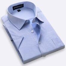 Большие размеры от S до 8xl, летняя рубашка с коротким рукавом, обычная посадка, мужская рубашка с отложным воротником, саржевая/простая, большая, мужская одежда