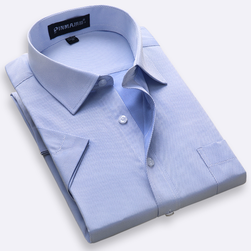 Plus Size S To 8xl Summer Short Sleeve Regular Fit Men'sdress Shirt Turn Down Collar Twill/Plain Large Male Clothes