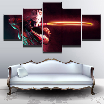 цена на Modern Canvas Painting Game Poster 5 Pieces DOTA 2 Juggernaut Wall Art Home Decor Boys Room Printed Picture Artwork