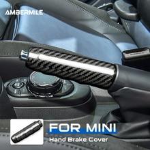 Ambermiles غطاء مقبض فرامل اليد من ألياف الكربون الصلبة ، لـ Mini Cooper F55 F57 F56 ، ملحقات هاتشباك ، تقليم