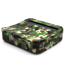 Manual Metal Cigarette Case Camo Stainless Steel Portable Semi-automatic DIY Maker Rolling Box