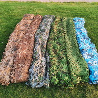 7X5M 2 Layer Military Camouflage Net 210D Oxford Sun Shelter Camo Netting for Hunting Camping Restaurant Party Decoration