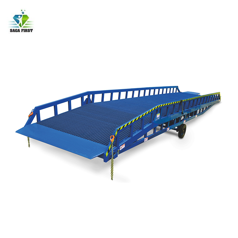 ISO Approved Adjustable Loading Ramps Electric Dock Leveler Equipments