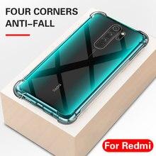 Para Xiaomi Redmi Note 9S funda de silicona TPU a prueba de golpes para Redmi Note 9 Pro Max 9S 8 8T 8A K30 Pro 5G funda trasera transparente suave