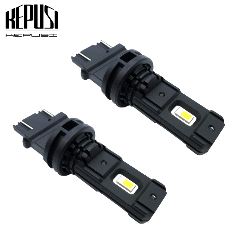 2Pcs <font><b>T25</b></font> <font><b>LED</b></font> 3157 3156 3057 3056 p27/7w <font><b>LED</b></font> Bulbs CSP <font><b>LED</b></font> Bulb Car Rear Brake Lights Parking 12V 24V White 6000K 3000LM image