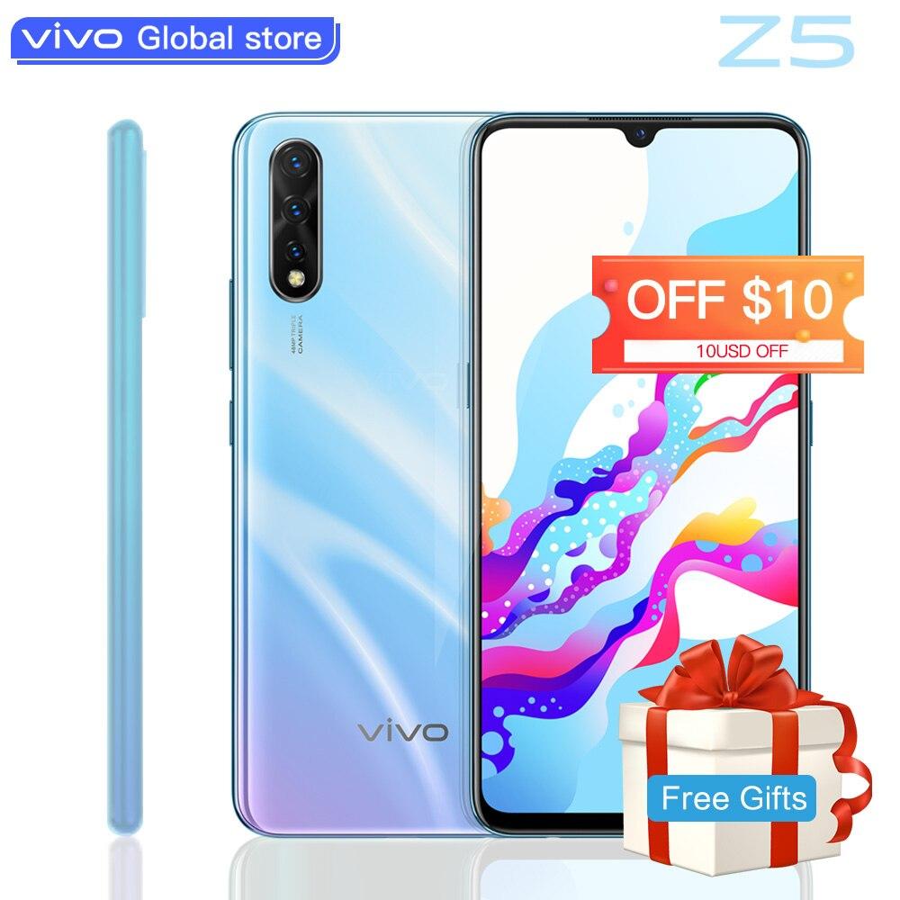 Téléphone mobile d'origine vivo Z5 Amoled écran Snapdragon712 48MP + 32MP appareil photo 4500mAh batterie celulaire 22.5W SmartPhone de charge