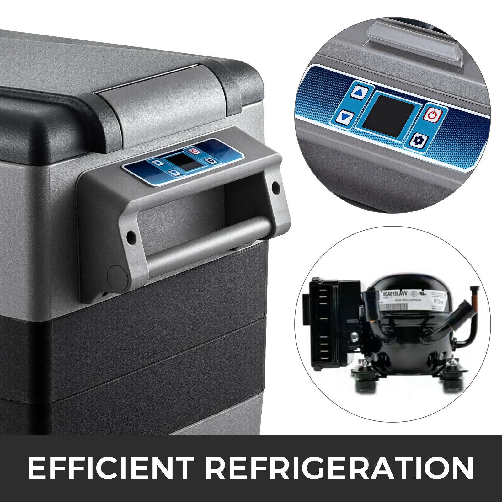 VEVOR 20L 22L 35L 45L 55L маленький автомобиль холодильник 12/24V DC 110-240V AC Портативный мини холодильники компрессора морозильных камер охладитель воздуха для дома 4