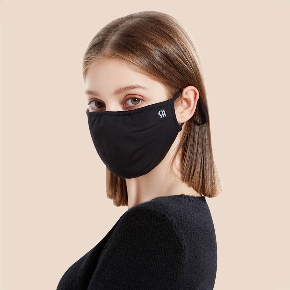 Черная маска для лица против загрязнения воздуха PM2.5 маска для лица многоразовые маски для мужчин и женщин
