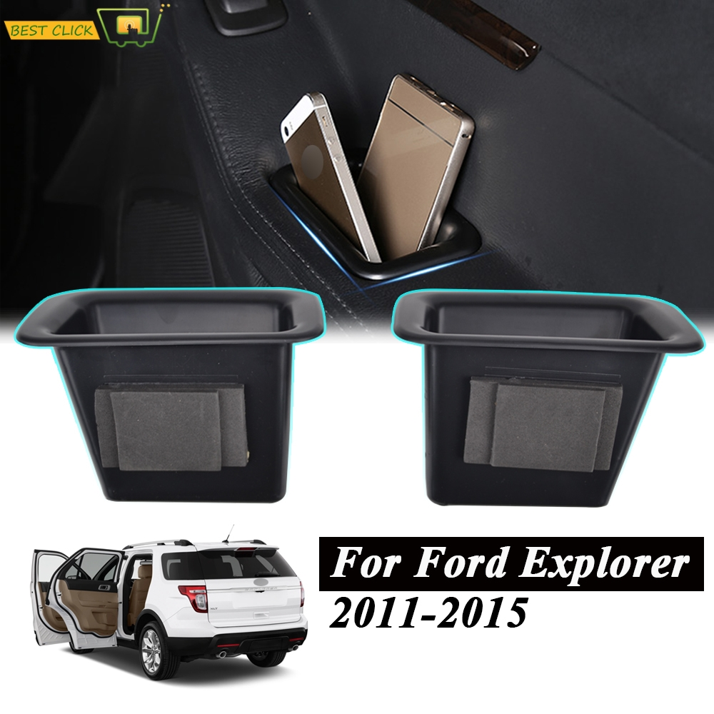 Door Storage Box Handle Tray Armrest Container Bin Cup For Ford Explorer 2011 2012 2013 2014 2015 Auto Accessories Car Organizer
