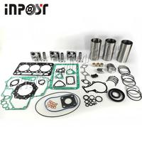 Revisão reconstruir kit std para kubota d722 motor pistão anel cilíndrico forro junta completa conjunto 16853-21050 16851-21114 16851-21982