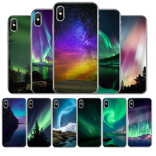 Prime Aurora Borealis Silicone phone case For iphone 12 11Pro Max 11 XR XS Max X 8 7 6 6S Plus 5 5S SE 2020 Back Cover Shell