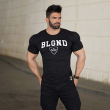 Men's new casual sports fitness short sleeved t shirt outdoor
