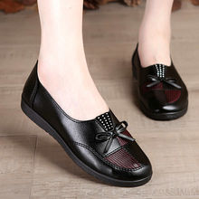 Female spring shoes 2020 fashion bow tie women's loafers black flats casual