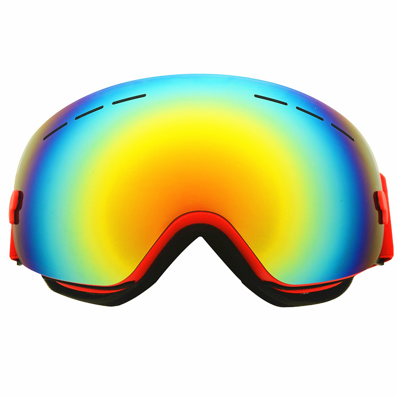 Manufacturers Wholesale Large Spherical Mirror Windproof Cocker Nearsighted Glasses Ski Goggles/Single Layer Simplicity Comma
