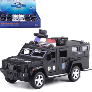 Bao si Lun Metal Car Police Car Explosion-Proof Vehicle Sound And Light Warrior Car Model CHILDREN'S Toy 66025 Non-Packaging