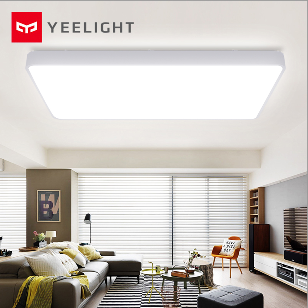 Xiaomi Mijia Yeelight Smart Ceiling Pro Light Square LED 96x64cm Plus Lamp Voice / Mi Home APP Control For Bedroom Living Room