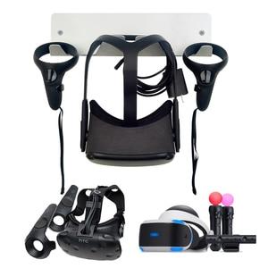 Image 2 - Einfach Installieren Metall Halterung VR Headset Lagerung Controller Wand Montiert Ständer Halter Zubehör für Oculus Rift S für HTC