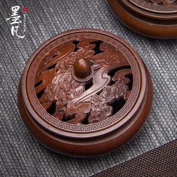 Buddhist Copper Incense Burner Bedroom Mini Antique Smell Diffuser Incense Holder Porta Incenso Buddhist Supplies New MM60XXL