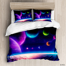 Cosmic starry sky room bedding set luxury  duvet Classic bed linen sky style home Bedding Set Duvet Cover Pillowcase bedding set double euro altinbasak navi sky blue