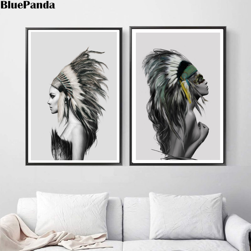 Nude Indian Girl Wall Poster