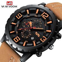 Мужские спортивные коричневые Кварцевые водонепроницаемые часы