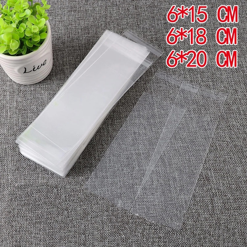 100Pcs Clear Plastic Self Adhesive Bag Small Mini Resealable Packaging Self Sealing Fresh-keeping Dustproof Gift Cookie Part Can