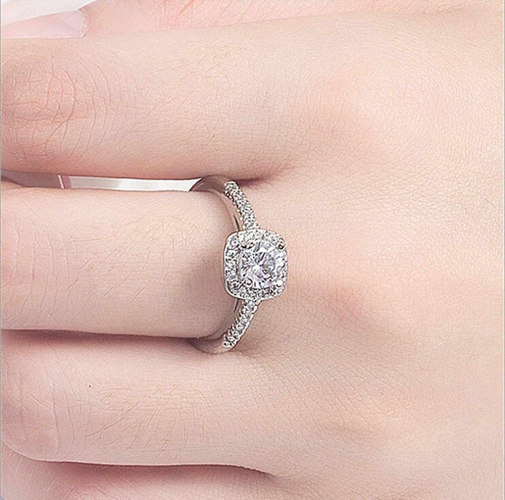 חם החדש 1 PC נשים בנות כסף זהב חתונת אירוסין נצח כלה טבעת סט חתונה טבעות נשים טבעות סט לנשים