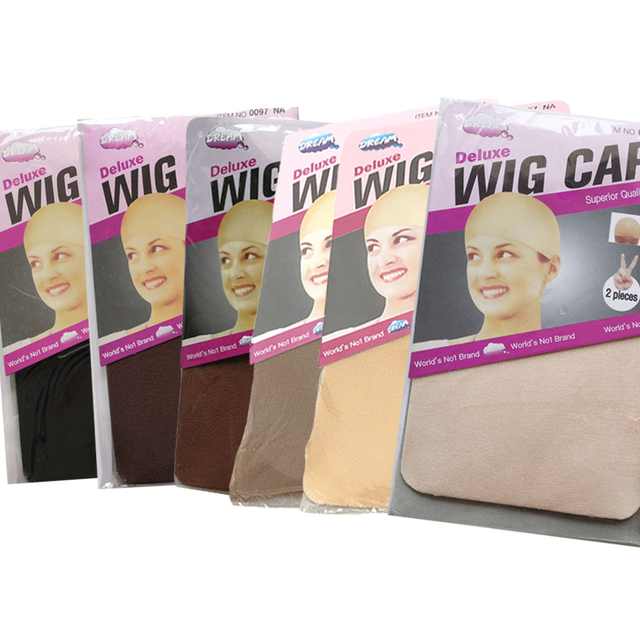 8pcs 12pcs  30pcs Wig Cap Wig Liner Wig Stocking sleep Cap cool Stretch ship from USA Black  LightBrown or natural Beige colors Available