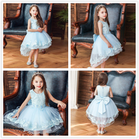 new baby girl clothes girl dress sleeveless baby wedding dress princess dress girls dresses Wedding presiding Birthday party